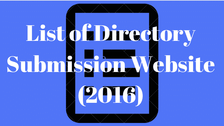 List of Directory Submission Websites 2017